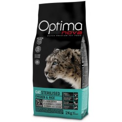 OPTIMAnova CAT STERILISED 2kg+Antiparazitni obojek 42cm ZDARMA