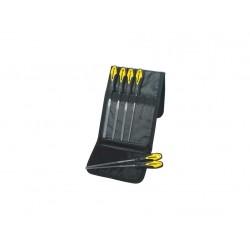 Sada jehlových pilníků 6ks v pouzdru PROTECO