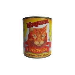 Konzerva pro kočky drůbeží 410g MAGNUM