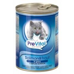 Konzerva pro kočky losos+pstruh 415g PREVITAL