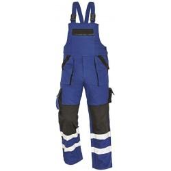 Montérkové laclové kalhoty s reflex.pruhy, modro-černé vel.52 MAX
