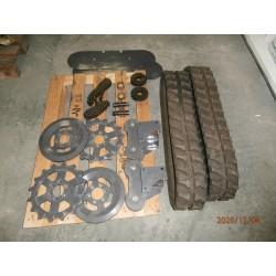 sada z kolového na pásový - montážní set, pásy, ozubená kola, řetězy, ložiska
