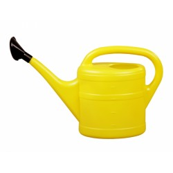 Konev 5l plastová s růžicí žlutá