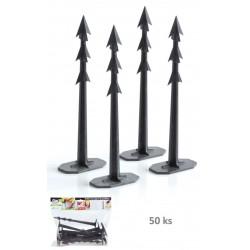 Kolíky upevňovací HARPOON PEG 200mm černé 50ks