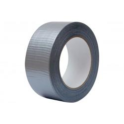 Páska textilní, stříbrná DUCT 25mm 10m