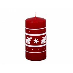 Svíčka vánoční - sob 6x12cm bordó
