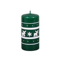 Svíčka vánoční - sob zelený 6x12cm
