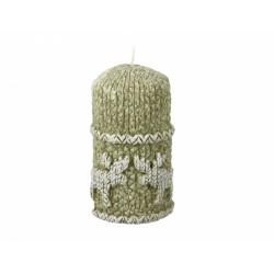 Svíčka vánoční - sob 7x12,5cm mátový