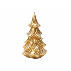 Svíčka vánoční - stromek 8x15cm zlatý